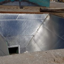 PARED DE TOLVA INOX Y TUNEL CON STM