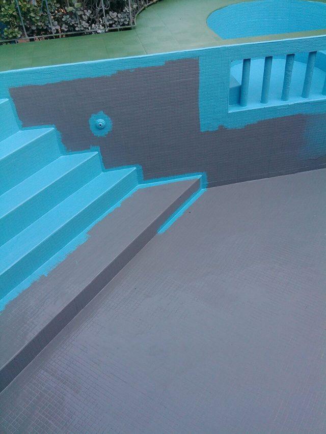Trabajos de decoración con pintura.