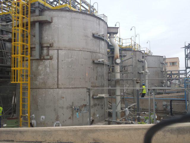 Tanques de tratamiento de limpieza de fosfatos