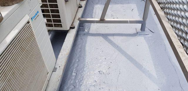 Cubierta tras la impermeabilización con STM